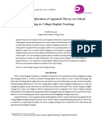 A Practical Application of Appraisal Theory on Critical Reading in College