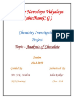 Analysis Of Choclate