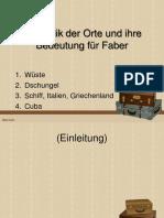 Symbolik der Orte Homo Faber