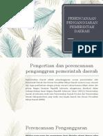 Perencanaan Penganggaran Pemerintah Daerah