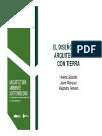 Diseño de Arquitectura Con Tierra.H.gallardo J.márquez a. Ferreiro