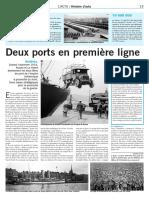 Deux ports en première ligne