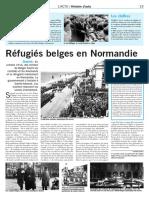 Réfugiés belges en Normandie