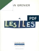 Camus - Préface à Iles de Jean Grenier