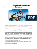 Luces y Sombras Del Petróleo en Colombia