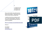 10 Excel Pro Tips Workbook
