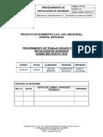 Procedimiento de Trabajo Seguro Instalacion de Elevador OHL Industrial (Ecocementos s.a.s)