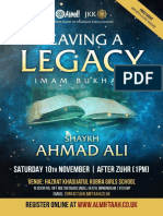 Leaving a Legacy | Imam Bukhari RA | Saturday 10th November 2018