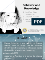 Behavior and Knowledge
