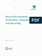 Rare Earth Elements Purification, Separación y Reciclo