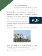 La Cultura de Grecia