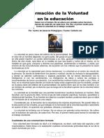Formación de La Voluntad en La Educacion