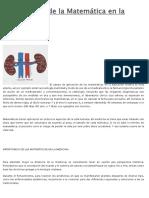 Aplicaciones de La Matemática en La Medicina