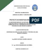 Proyecto de tesis en gestión de riesgos