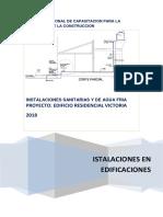 Memoria Descriptiva de Instalaciones de Agua Fria Castillo