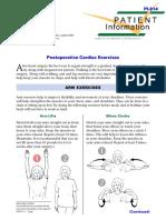Postoperative cardiac exercises