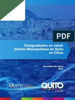 Desigualdades en Salud Del DM de Quito 2017
