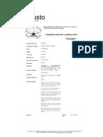 Certificados de Calibracion Equipos Laboratorio IMCO