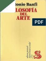 Banfi, Antonio. Filosofia Del Arte PDF