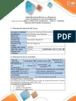 Guía de Actividades y Rúbrica de Evaluación – Fase 3 – Realizar Informe Del Estudio Financiero