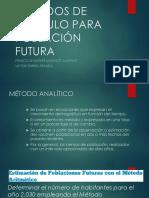 Metods de Cálculo Para Población Futura
