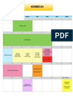 Calendario Eventos Noviembre 2018
