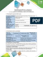 Guía de actividades y Rubrica de la Etapa 3 Definir el objetivo, alcance y análisis del inventario
