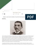 Militar e Autor de Os Sertões_ Flip 2019 Homenageará Euclides Da Cunha - Blog Pagina Cinco - UOL