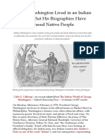 George Washington Lived in an Indian World, But His Biographies Have Erased NativePeople