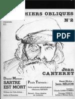 R - Les Cahiers Obliques N°2 - Jean Carteret