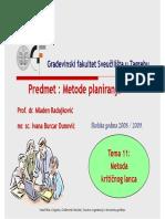 11 Metoda Kriticnog Lanca2009 -Slide