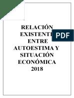 Relación Existente Entre Autoestima y Situación Económica