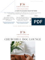 Fabrics Store Churchill Dog Bed Sewing Pattern