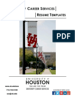UH Resume Templates