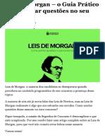 Leis de Morgan - o Guia Prático para acertar questões no seu concurso!