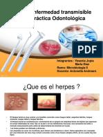 Herpes Transmisible en Practica Odontologica