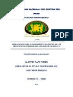 Estrategias Para El Incremento de Ventas en Los Negocios de Vidrioeria en La Ciudad de Huancayo