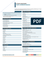 Data Science Basics Cheatsheet