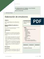 Elaboración de Emulsiones