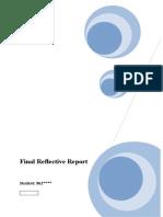 Organisational Behaviour - Group Work - Final Reflective Report