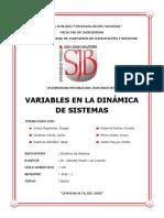 Variables Dinamica Sistemas