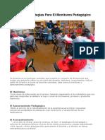 Criterios Y Estrategias Para El Monitoreo Pedagógico