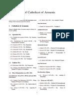 List of Catholicoi of Armenia