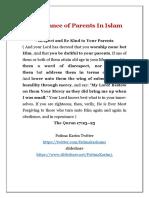 Parents in Islam @Fatimakarimms