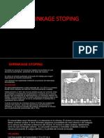 SHRINKAGE STOPING (Trabajo Para Exponer)