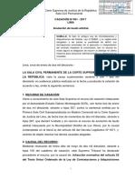 Casación 491-2017 Lima Conciliación y Arbitraje en Las Contrataciones Con El Estado - Compilador José María Pacori Cari