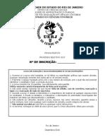 prova seleção mestrado CONTABILIDADE UERJ 2017