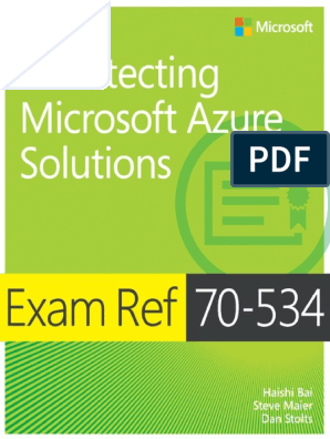 70-534_architecturing Azure le complet pdf | Microsoft Azure