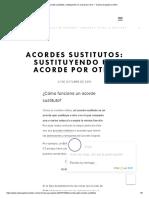 Acordes Sustitutos_ Sustituyendo Un Acorde Por Otro — Clases de Guitarra Online