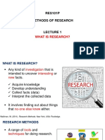 1 What is Research